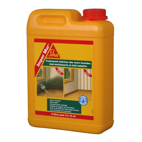 L humidit dans les murs mat riaux et bricolage for Hydrofuge sika liquide