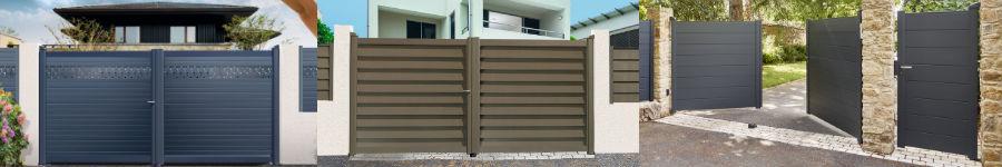 portails aluminium aluclos mat riaux et bricolage. Black Bedroom Furniture Sets. Home Design Ideas