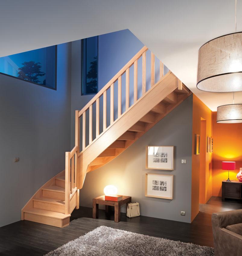 escalier d'intérieur en hêtre